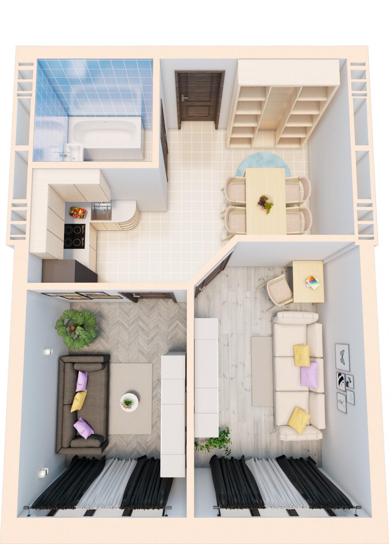 Smart квартира на две комнаты L