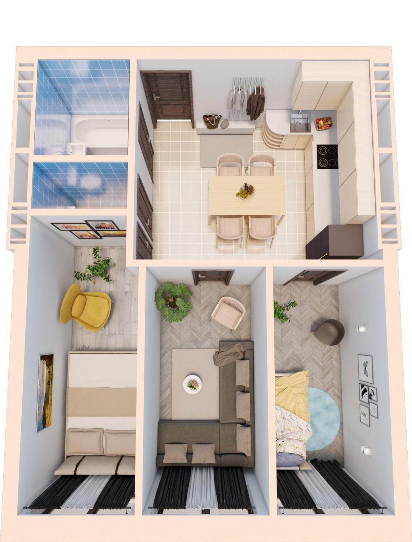 Smart квартира на три комнаты L